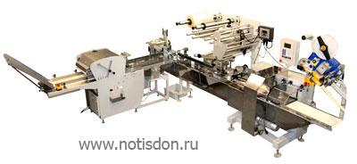 Линия нарезки и упаковки хлеба Нотис. Компания Нотис-Дон